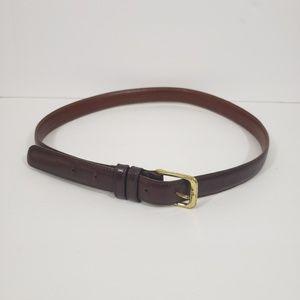 Coach Men Brown Leather Belt Size 34